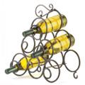 Wrought Iron Scroll Wine Rack