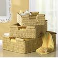 Nesting Corn Husk Basket Set