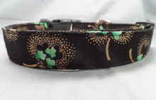 Shamrocks and Gold St. Patrick's Day Dog Collar