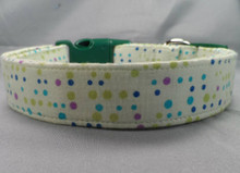 Polka Dot Light Green Dog Collar