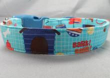Blue Dog Themed Dog Collar