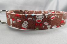 Classic Sock Monkey Dog Collar