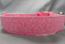 Little Pink Flowers on Pink Dog Collar
