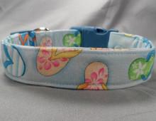 Flip Flops Blue Beach Dog Collar