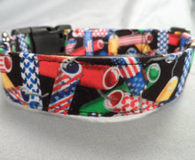 Fourth of July Fireworks Patriotic Dog Collar Rescue Me Collars
