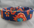 Dog Days Country French Blue Paisley & Flowers Collar