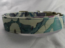 Dog Days Olive and Aegean Green Batik Collar