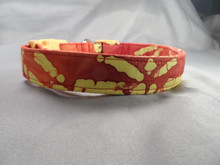 Dog Days Red Bamboo Batik Collar