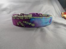 Dog Days Purple Bamboo Batik Collar