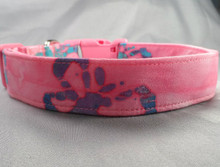 Dog Days Butterflies on Pink Batik Collar