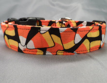 Candy Corn Toss Halloween Dog Collar
