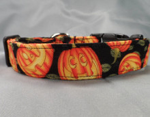 Halloween Jack O Lanterns Dog Collar