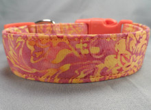 Fall Colors Batik Dog Collar