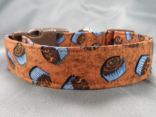 Chocolate Cupcakes Dog Collar