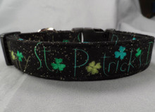 Happy St. Patrick's Day Dog Collar
