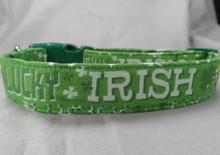 Lucky Irish St.Patrick's Day Dog Collar
