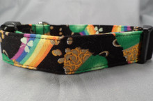 Rainbows and Gold Dog Collar