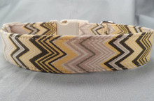 Charlie Brown Chevron Dog Collar