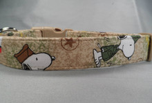 Military Heroes Snoopy Dog Collar
