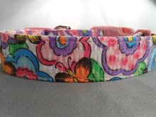 Butterflies and Blossoms Dog Collar Rescue Me Collar