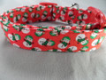 Snowmen on Red Christmas Dog Collar