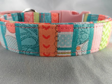 Pretty Girl Stripe Dog Collar