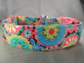 Funky Hippie Flowers Dog Collar rescue Me Dog Collars