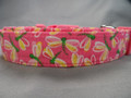 Dragonflies on Pink Dog Collar Rescue Me Dog collar