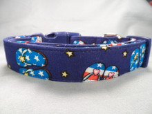 Red White and Blue Flip Flops Summer Beach Dog Collar Rescue Me Collar