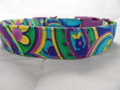 Dog Days Colorful Blue and Purple Paisley Dog Collar