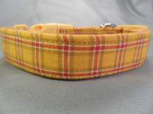 Yellow Plaid Dog Collar
