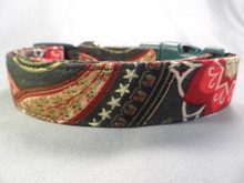 Fancy Holiday Paisley Dog Collar