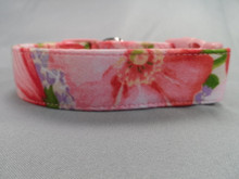 Dog Collar Pretty Pink Cosmos Flowers Rescue Me Dog Collar