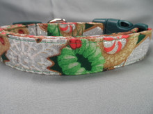 Christmas Dog Collar Glittering Christmas Cookies on Green