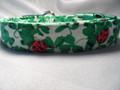 St Patrick's Dog Collar Green Shamrocks and Ladybugs Rescue Me Dog Collar