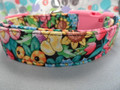 Funky Dog Collar Collar, Bright Flower Splash, Girl Dog Collar