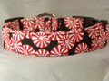 Peppermint Pinwheel Candy  Christmas Dog Collar rescue me collar