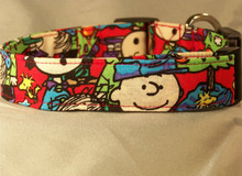 A Charlie Brown Christmas licensed fabric Dog Collar rescue me collar