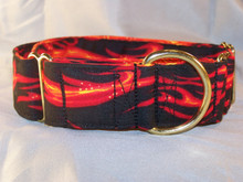 Martingale collar in 1.5 inch width. Features all brass hardware and reinforced stitching at the stress points.
