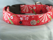 Christmas Candy on Red Dog Collar rescue me dog collar