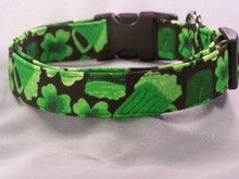 Shamrocks and Green Beer St Patrick's Day Dog Collar