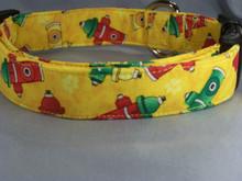 Fire Hydrants on Yellow Dog Collar