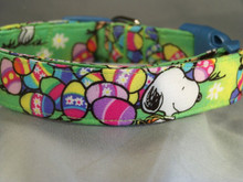 Licensed Fabric Snoopy Easter Dog Collar