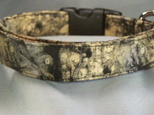 Grunge Look Black and Tan Dog Collar Rescue Me Collar