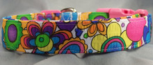 Psychedelic Flower Power Dog Collar Rescue Me collar