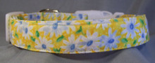 Daisy Flower on Yellow Dog Collar