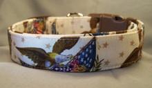American Eagle Patriotic Dog Collar rescue me collar
