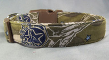 Military Plane Fabric Dog Collar