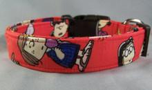 Licensed fabric Peanuts Gang Dog Collar