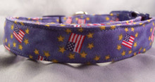 Flags & Star Circles Dog Collar
